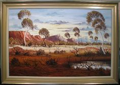 Henk Guth original oil titled 'In the MacDonnell Ranges' Australia Ranges, Australia, Oil, The Originals, Painting, Painting Art, Range, Paintings, Painted Canvas