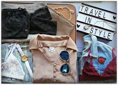 Travel in Style <3 Janie B lace crop top - R190 Mia Couture grey pencil skirt - R180 It's Just Your Luck vintage bag - R150 Sea Lemon white mesh & lace bralette - R395 Prism map watch - R190 WGACA printed jeans - R295 Elu shirt bodysuit - R450 Prism sunglasses - R140 (30% off) Decades pocket watch - R180 WGACA vintage rose denim jacket - R450 Sea Lemon maroon lace bralette - R245