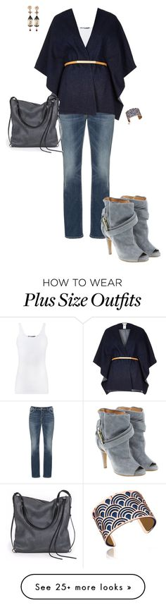 """""""Blue dayz"""" by ccoss on Polyvore featuring Silver Jeans Co., Maison Margiela, Les Georgettes, Of Rare Origin, Vince, River Island and Ina Kent"""