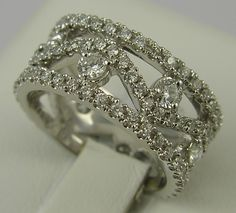 One fantastic 14k diamond eternity band, with a total of 88 diamonds weighing 1.78ct.