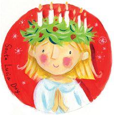 Such a cute Santa Lucia!