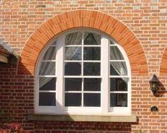 Hardwood sliding box sash window with curved head detail Timber Windows, Casement Windows, Arched Windows, Gothic Windows, Sash Windows, Brickwork, Porch Ideas, Surrey, Joinery