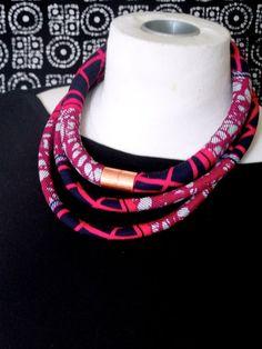 LOVE!  Pink Diamond African Print Fabric  Double Loop by RitaVanTassel, $28.00