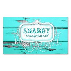 GC Shabby Vintage Aqua Wood Business Card. This is a fully customizable business card and available on several paper types for your needs. You can upload your own image or use the image as is. Just click this template to get started!