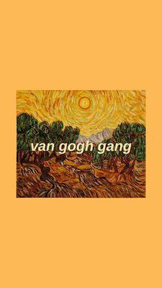 Van Gogh corridor wallpaper by me :) bee sandoval - Walpapers Pic Natural Tumblr Wallpaper, Lock Screen Wallpaper, Cool Wallpaper, Wallpaper Quotes, Painting Wallpaper, Painting Canvas, Canvas Art, Van Gogh Wallpaper, Minimal Wallpaper