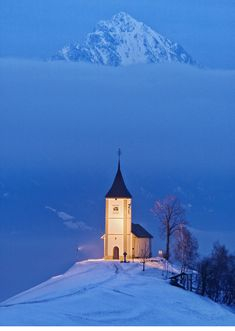 The Church of St. Primoz in Slovenia—a beacon of light in a twilight kingdom.