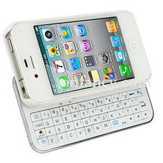 Sliding White Bluetooth Keyboard Hardshell Case For IPhone 4/4s on Luulla