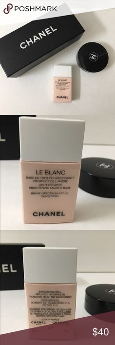 Chanel's Brightening makeup base 10 rose spf40 BNNB Chanel authentic!  brightens! Prime's and shields sunrays with luxury Chanel skincare built inside ! A must have for my posh doll faces 's! CHANEL Makeup