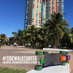 The best way to get around #Miami!  www.DonkBoard.com  #longboard #skateboard #DonkBoard #southpointpark