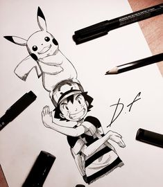 One Piece Drawing, Boy Drawing, Drawing Sketches, Pencil Drawings, Character Drawing, Character Design, Pokemon Sketch, Pikachu, List Of Characters