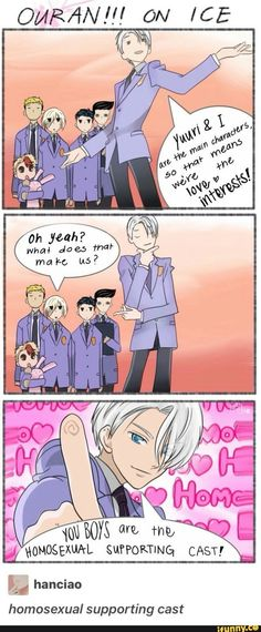 Yuri!!! On ice/ Ouran high school host club crossover