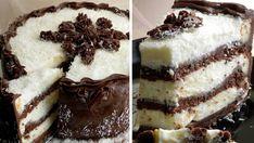 Kokosovo-čokoládový dort plněný smetanovým krémem s úžasnou a lehkou chutí! | Milujeme recepty