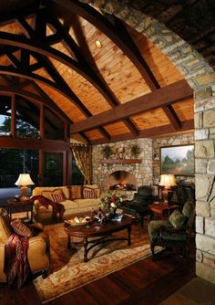 Those beams. Would be great for a house in Colorado