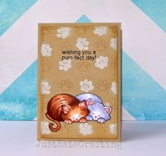 Just Kate crafting: Purrfect day - Cat card for World Card-making day challenge at Newton's Nook Designs !