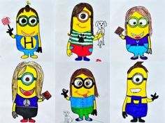 I would need to find a minion template to accompany this - my kids couldn't draw a minion freehand.