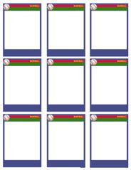 Baseball Card Templates - Free, blank, printable, customize