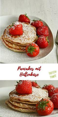 Pancakes mit extra Protein: Hüttenkäse im Teig, Haferflocken und wenig Zucker sorgen dafür, dass diese Pancakes perfekte Protein-Power vor dem Training liefern. Ein tolles Frühstück vor dem Run oder Workout! Low Sugar, high Energy. Das ganze Rezept auf www.we-love-pasta.de