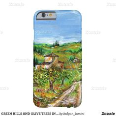 GREEN HILLS AND OLIVE TREES IN TUSCANY LANDSCAPE BARELY THERE iPhone 6 CASE