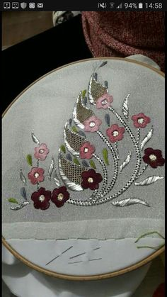 Tel kirma cesitleri - Salvabrani Zardozi Embroidery, Couture Embroidery, Gold Embroidery, Hand Embroidery Designs, Embroidery Stitches, Embroidery Patterns, Embroidery Suits, Crochet Patterns, Cushion Embroidery