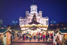 Helsinki Christmas Market - Copyright Visit Helsinki. More Christmas Markets on @ebdestinations #Christmas #Christmasmarkets #Xmas