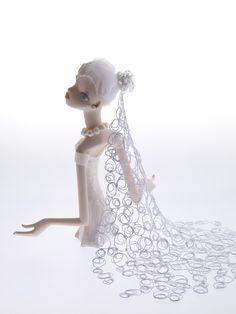 """""""Vanilla"""" doll made from Ceramic and Multi Media by Keiko Araki."""