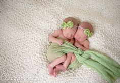 Sweet newborn twin girl photo/ Kansas City Photographer