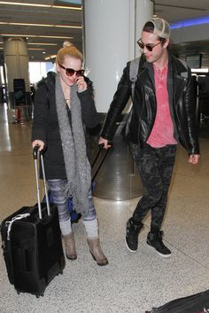 Dove Cameron and Ryan McCartan Are Seen at LAX