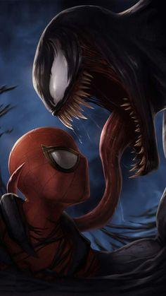 Spider Man vs Venom iPhone Wallpaper - iPhone Wallpapers