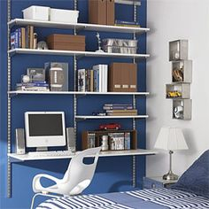 The Container Store > White & Platinum elfa Boy's Room----Doing this myself! I don't need the container store!
