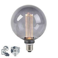 Was für ein Hingucker! Diese E27# LED-Lampe ist wirklich schön an zu sehen. Das Rauchglas in Kombination mit dem langen Filament macht sie zu etwas ganz Besonderem. Die Lampe ist ganz einfach über deinen #Wandschalter zu regulieren. Du benötigst also keinen extra #Dimmer. Led Lampe, Light Bulb, Lighting, Home Decor, Smoking, Ceiling Lights, Simple, Decoration Home, Light Fixtures