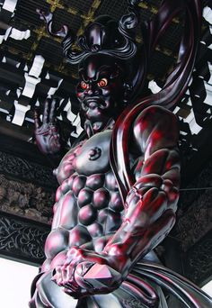 "https://flic.kr/p/eeKLw2 | Buddhist statue 仏像 - 念佛宗(念仏宗無量寿寺) 山門 仁王像014 | www.youtube.com/user/asusume www.facebook.com/Nenbutsushu www.nenbutsushuart.tumblr.com/ www.nenbutsushu.or.jp/ Nenbutsushu Sanpouzan Muryojuji ""The Royal Grand Hall of Buddhism"" 念佛宗(念仏宗無量寿寺) 総本山 兵庫県加東市"