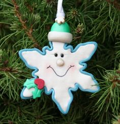 Little Flake Personalized Christmas Ornament
