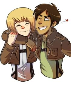 eren and armin [comic23 on tumblr] ((YELLS CUTIES))