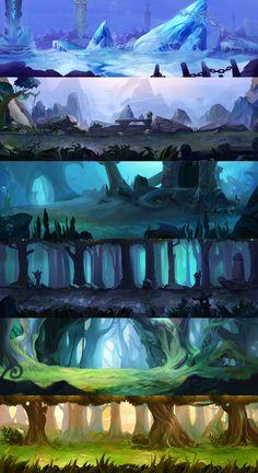 Game design 666884657295233446 - ArtStation – Environmental design , Hou Yu Source by lilouchevance Fantasy Art Landscapes, Fantasy Landscape, Landscape Art, Landscape Design, Digital Painting Tutorials, Digital Art Tutorial, Concept Art Tutorial, Animation Background, Art Background