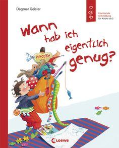 """Dieses Buch erklärt Kindern auf anschauliche Weise, dass auch schöne Sachen zu viel werden können. Es zeigt auf, wie man die eigenen Bedürfnisse erkennt und auch mal sagen kann: """"Jetzt hab ich erst mal genug!"""""""