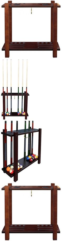 Ball and Cue Racks 75185: Hathaway Classic Floor Billiard Pool Cue Rack, Antique Walnut BUY IT NOW ONLY: $127.99