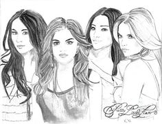 Pretty Little Liars Colouring Pages Shay Mitchell Celebrity Doodles