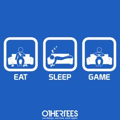 """""""Eat, Sleep, Game - Console"""" by thehookshot Shirt on sale until 25 June on othertees.com Pin it for a chance at a FREE TEE! #xbox #ps3 #ps4 #console #games"""