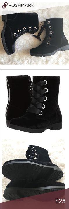 cdfaaff34f3 Nine West Big Girls Melinah Velvet Boots Black velvet boots. Girls youth  size 4.