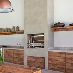 Barbecue, Kitchen Interior, Living Room Designs, Beach House, Sweet Home, Kitchen Cabinets, Backyard, House Design, Interior Design