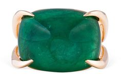 Dear Santa, I have been a very good girl...    One Kings Lane - Vintage Designer Accessories - Emerald Swing Ring
