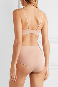 Baserange - Set Of Two Stretch-bamboo Triangle Bras - Neutral -