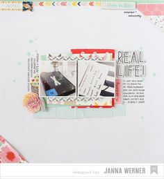 American Crafts scrapbooking inspiration - Janna Werner | Papiersalat