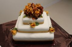 rehearsal cake from Cody & Heather's wedding. autumn concept.