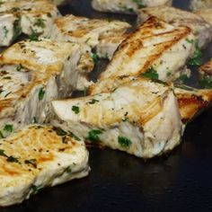 Simply Seared Swordfish - so moist and delicious its hard to believe how healthy it is. Grilled on my evo of course.