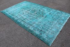 Turquoise Rug, Square Rugs, Blue Carpet, Unique Rugs, Large Rugs, Room Rugs, Rugs On Carpet, Vintage Rugs, Awesome