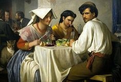 Bloch, Carl (1834-1890) 'In a Roman Osteria' Carl Heinrich Bloch (May 23, 1834 - February 22, 1890) was a Danish painter.