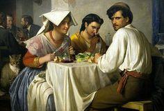 Carl Bloch (1834-1890) - In a Roman Osteria