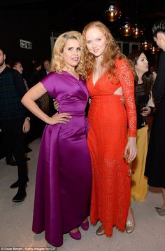 Bright and beautiful: Paloma posed with model and mum Lily Cole in an equally bright outfi. Paloma Faith, Lily Cole, Satin Gown, Elegant, Simple Style, Redheads, Tower, Glamour, Bright