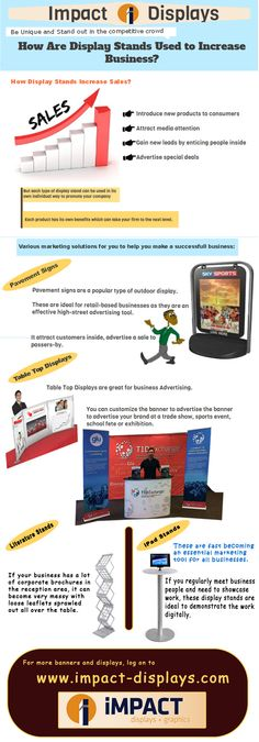 Display stands are very useful to boost the business. It will attract more customers to your business. There are many displays according to the events, you can use it.  http://www.impact-displays.com